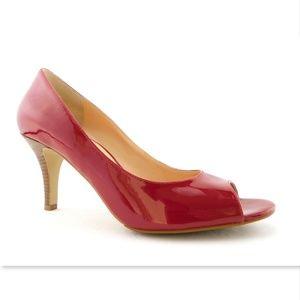 Unworn COLE HAAN Nike Air Red Open Toe Pumps 9.5